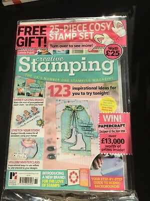 creative stamping magazine issue 36 with 25 stamp set