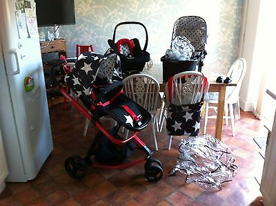 Cosatto 3 In1 Travel System Pram / Carry Cot / Seat