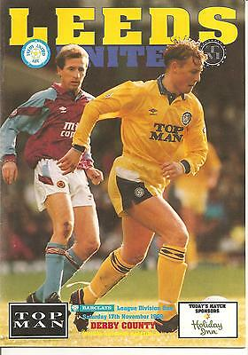 1991/92  League Division One  Leeds United V Notts County