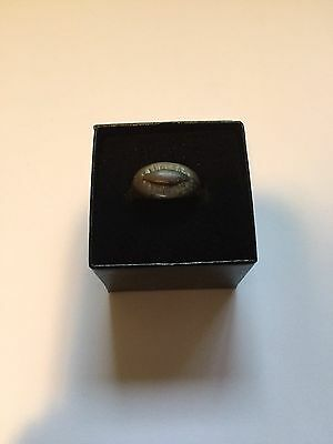 Ancient Bronze Ring Roman 100-300AD Depicting Magical Eye Against Evil