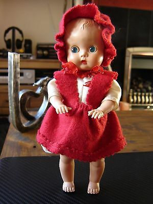 """Vintage Made in England hard plastic baby doll 8"""" tall. Pedigree? Roddy?"""