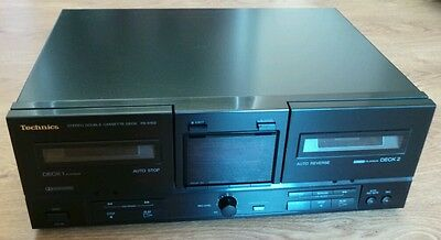 Vintage Technics RS-X102 Stereo HiFi Double Cassette Tape Deck Player Recorder