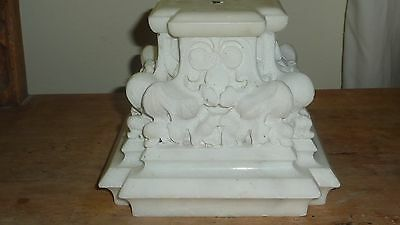 Stunning Antique Italian Carrerra Marble Column/Capital Artifact - Carved -SALE