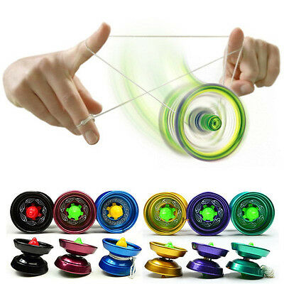 Cool Aluminum Design Professional YoYo Ball Bearing String Trick Alloy Kids JX