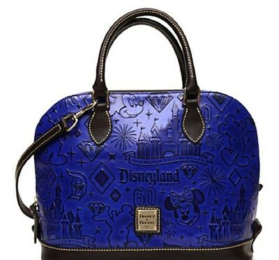 Disneyland 60th Diamond Celebration Dooney & Bourke Satchel Handbag Blue New