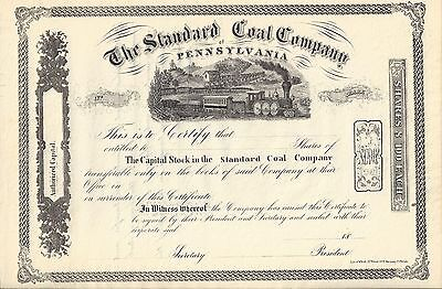The Standard Coal Company Of Pennsylvania...unissued Stock Certificate