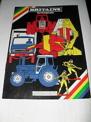 Britains Model Toy Catalogue 1981 Uk Edition Vn Mint Condition For Age