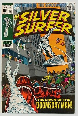 The Silver Surfer #13 NM- 9.2 OW/W pages (Feb 1970, Marvel)