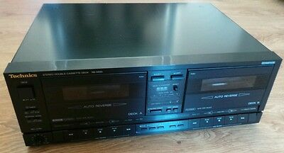 Vintage Technics RS-X933 Stereo HiFi Double Cassette Tape Deck Player Recorder