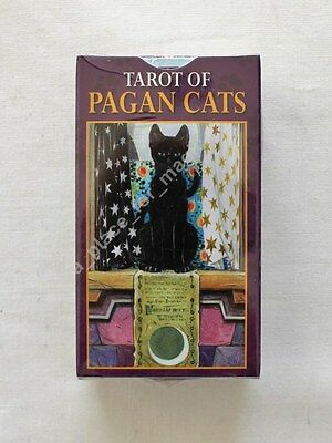 NEW Tarot of Pagan Cats MINI Deck Cards Lo Scarabeo DISCOUNTED FOR DENTED BOX