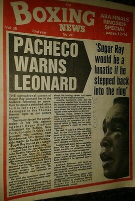 May 14th 1982    Boxing  News SUGAR RAY LEONARD/ABA FINALS