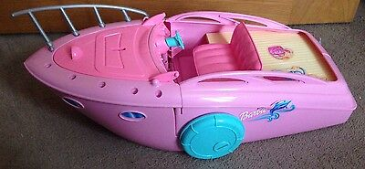 Vintage Barbie Pink Pool Party Boat Mattel 2002 Romania Ship Retro