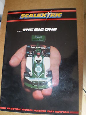SCALEXTRIC SLOT CAR TOY CATALOGUE 1980 21st EDITION EXCELLENT FOR AGE