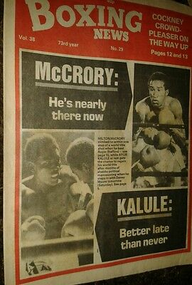 July  16th 1982  Boxing  News AYUB KALULE V DAVEY MOORE PREVIEW/MILTON McCRORY