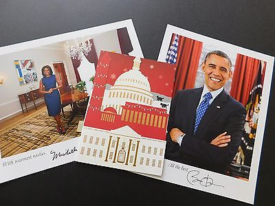 OBAMA Christmas 2015 holiday card + MICHELLE Barack OBAMA White House PICTURES