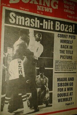 Apr 30th   1982  Boxing  News  CORNELIUS BOZZA EDWARDS-JOHNNY VERDEROSA