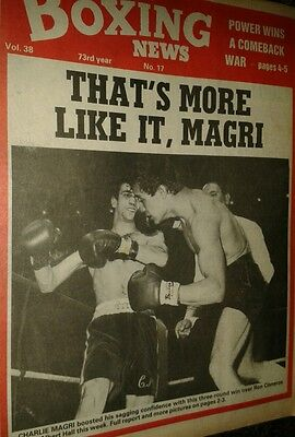 Apr 23rd    1982  Boxing  News  CHARLIE MAGRI-RON CISNEROS/ABA SEMI FINALS