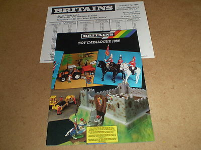 Britains Model Toy Catalogue 1986 Uk Edition + P/listexcellent Condition For Age