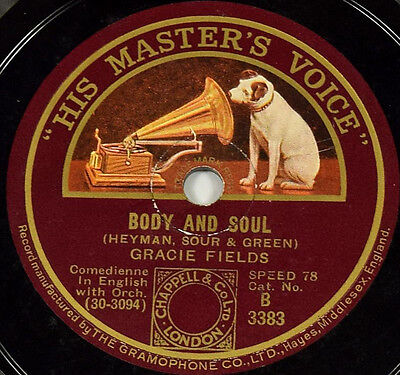 Schellackplatte - Gracie Fields - Body and Soul / You Can't Kill Flies By...