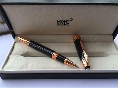 New luxurious high quality Black Precious Rose gold Rollerball Pen With box