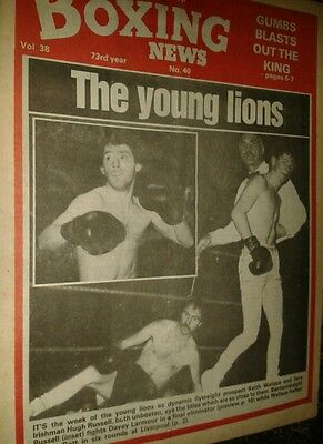 Oct 1st   1982  Boxing  News