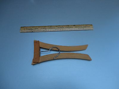 """Vintage Folding wooden clothes hanger 16 inches wide folds to 4x8"""""""