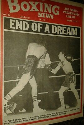 May 7th 1982  Boxing  News CHARLIE MAGRI-JOSE TORRES/ ABA FINALS PREVIEW