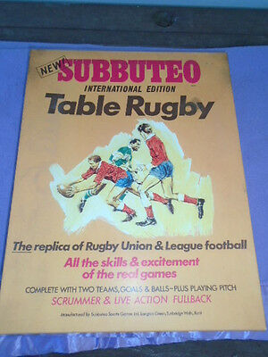 Vintage Subbuteo Table Rugby Game