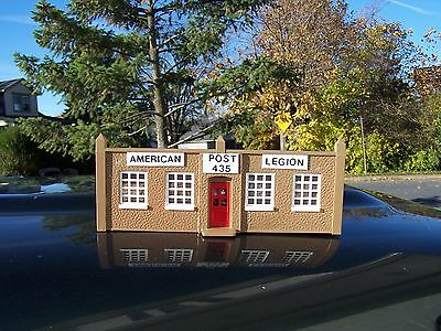 American Legion Post * O or S Scale * Plasticville * Korber * Kitbashed * Custom