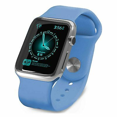 Tuff-Luv Silicone Wrist Watch Strap Band for Apple Watch 1 / 2 Sport - 42mm-Blue