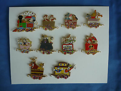 TRAIN set of 10 Disney Pin  Great Characters CHARACTER  TRAIN  from Mystery Tin