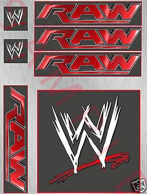 WWE/RAW EDIBLE ICING CAKE TOPPER & SIDES KIT - MAKE YOUR OWN WRESTLING RING cake