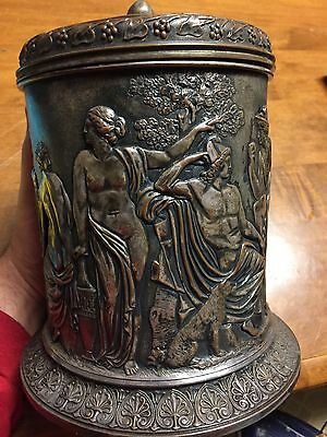 Rare Early Amazing Antique Elkington Silver Urn Ice Box Roman Scene Devil Scarce