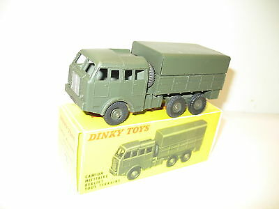 DINKY TOYS, Camion berliet 6X6 chassis kaki, militaire ref. 80 D