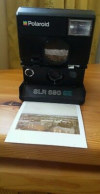 POLAROID SLR 680 SE Instant auto focus  600 film Land Camera with manual&tripod
