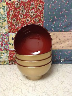 Made in Japan -Gold Miso Soup /Ozoni Soup Bowl. 1 Bowl.