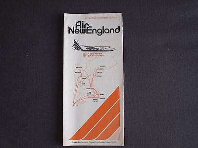 Air New England Timetable Effective October 15, 1975