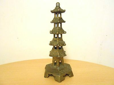 Antique 19Thc Chinese Brass Pagoda Ornament