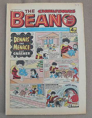 The Christmas  Beano December 1976  40th Birthday Gift