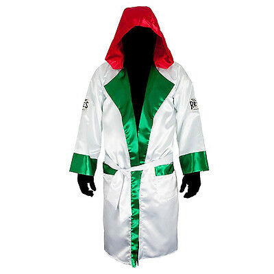 Cleto Reyes Satin Boxing Robe - Youth - Mexican Flag