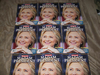 Madame President Newsweek Mags Hillary Issue Recalled, White Cover Blemishes