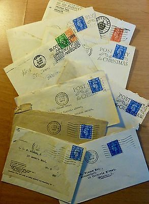 9 Old Envelopes from the 1940's