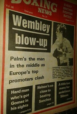 July 30th  1982  Boxing News HANS HENRIK PALM
