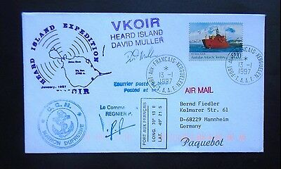 Arctic Cover Heard Island Expedition Boat Ship Cover Australia Aat 200.36 0.99