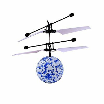 Tairq Kids Flying RC Ball Infrared Induction Mini Aircraft Flashing Light Remote