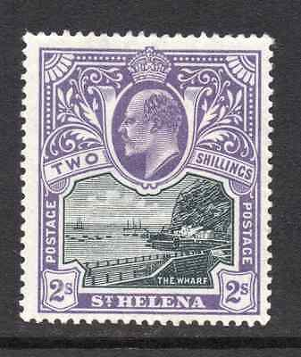 St Helena Postage stamp  2 shillings,  Edward VII,  The WHARF dating 1903 SG-60