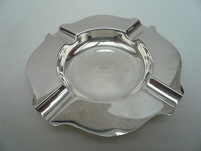 Silver Ash Tray, Sterling, Vintage, English, Hallmarked 1957