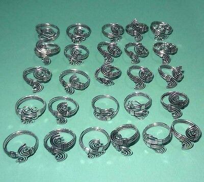 Wholsale Lot 26 Pcs 925 Sterling Silver Plated Handmade Designer Ring Jewelry
