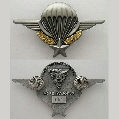 French Foreign Legion Etrangere 2 Rep Back - Badge Matte - Numbered Parachute