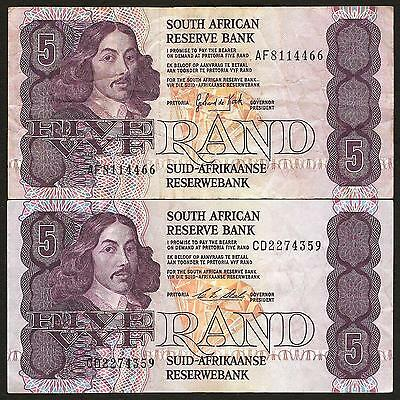 South Africa 5 Rand 1989 & 1990 - details in listing